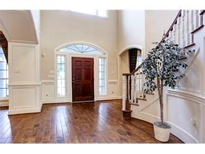Grand Entrance with Winding Staircase