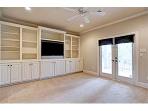 Media Room with Built-ins and Large Outdoor Patio