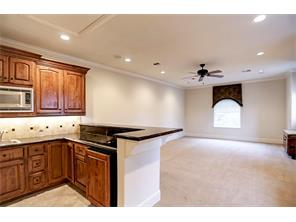 Wet Bar with Built-ins, Microwave, Sink, Refrigerator & Granite Counter Tops