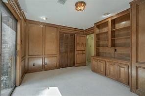 beautiful wood paneling & lots of built-ins