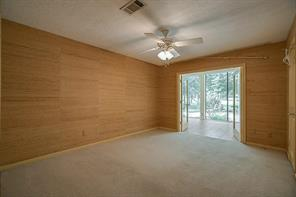 2nd secondary bedroom. Double doors lead to the hallway of the 2nd living area/sunroom