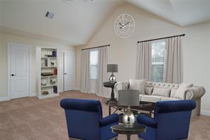 Staged photo: imagine your own furniture in this gameroom/family room.