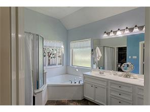 Large Master Bath with Separate shower.