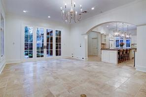 Another photo of the family room with french doors to yard.