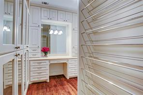 One of 2 master closets.  Please note the detail!