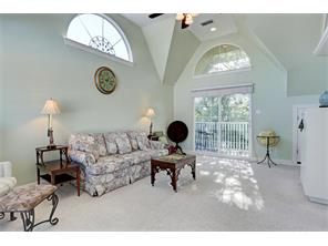 BRIGHT AND CHEERFUL DEN ON 3RD FLOOR OF ANNEX - 20 X 25 - high vaulted ceiling, arched windows for additional light, door to balcony overlooking courtyard