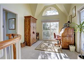 SITTING ROOM ON 3RD FLOOR OF ANNEX - 14 X 21 - in MLS as bedroom 5, full bath on this floor - vaulted ceiling and arched window, door to balcony overlooking courtyard