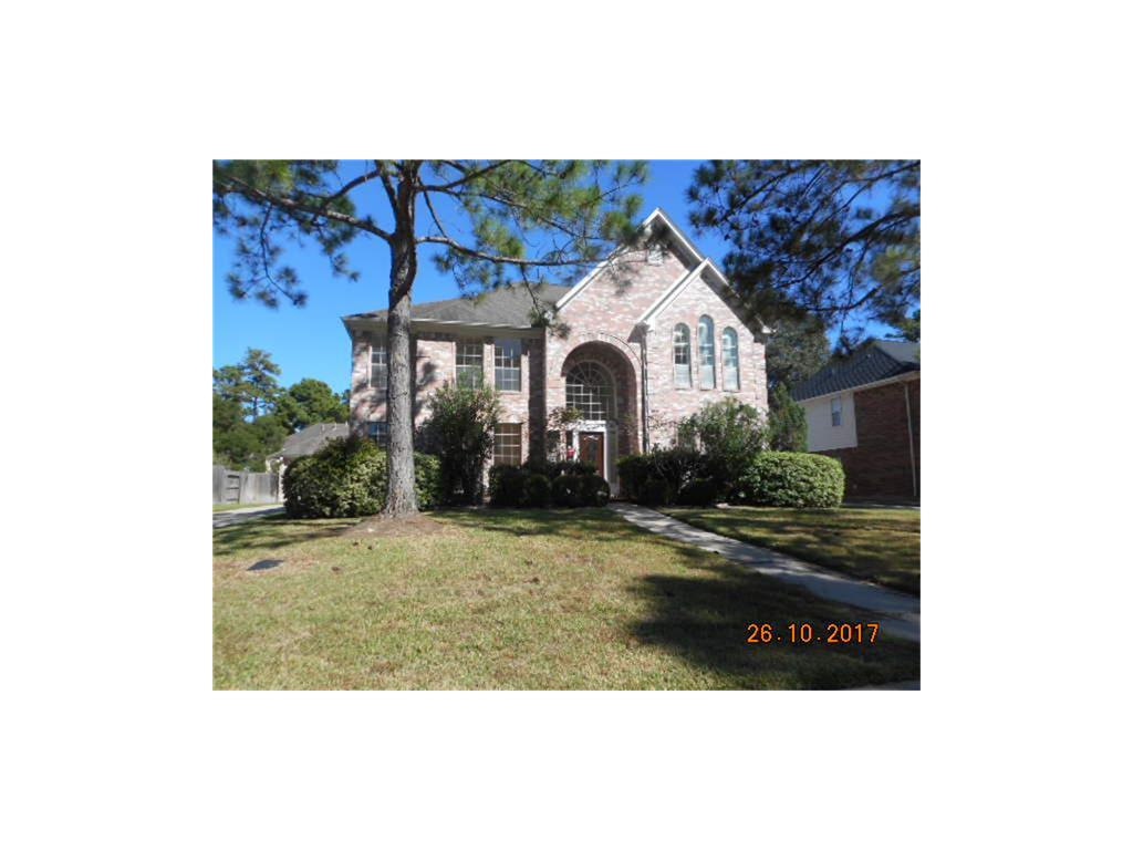 FORECLOSURE!! NO CARPET, LAMINATE AND CERAMIC TILE, SS APPLIANCES, ISLAND IN KITCHEN. MST SUITE DOWNSTAIRS WITH HUGE BATHROOM AND CLOSET. 4 BEDROOMS AND GAMEROOM UP. 2 BDRMS ON LEFT W/JACK & JILL BATH AND 2 BDRMS ON RIGT WITH JACK AND JILL BATH. LARGE COVERED PATIO WITH TILE FLOOR. CLOSE TO HWY 249 AND VINTAGE PARK.