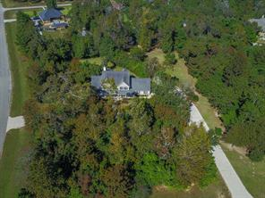 Aerial view shows the 25 ft buffer around the 1.67 ac lot.