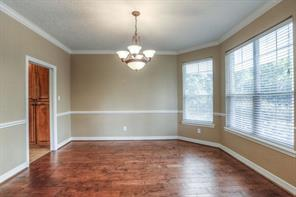 Formal dining is spacious and has plenty of room for a table and buffet.