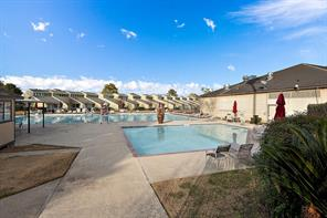 Two of the three community pools. Kiddie pool and family pool.