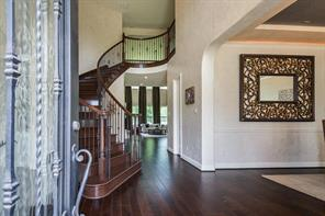 Views to the backyard upon entering the home. Neutral walls and high ceilings throughout!