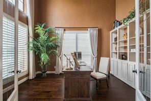 Who wouldn t want to work from  home in this home office. Full of natural light and built-ins for storage.