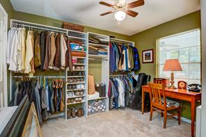 This forth bedroom is located near the Master and was turned in to a wonderful dressing room.  Closet fixtures will be removed or purchased outside of the sales contract