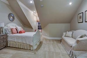 Even the secondary bedrooms have plenty of character and are all en suite. There are three bedrooms upstairs in the main house and one more in the guest house.