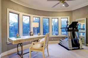 SITTING ROOM OFF MASTER BEDROOM can be used in a myriad of ways.  With a wall of bay windows overlooking the backyard, this can be a private gym or office (or both!), a yoga studio or whatever works best for you!