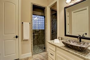 This is the view of the opposite side of the bathroom which creates a private surrounding and each with a walk-in closet.