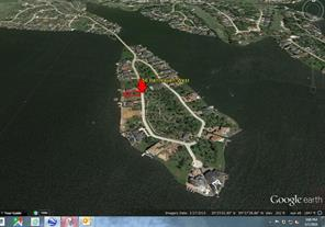 This view shows you exactly the location of the home site on Benthaven Island