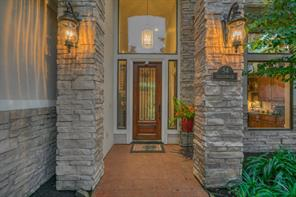 Stacked stone and stucco elevation with a 20' entry!