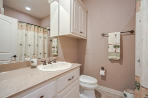 The third full bath is off the 4th bedroom and offers access to guests of the game room as well!