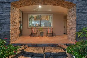 Relax on this lovely back patio...