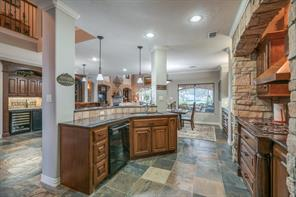 This gourmet kitchen and living combination are designed for entertaining!