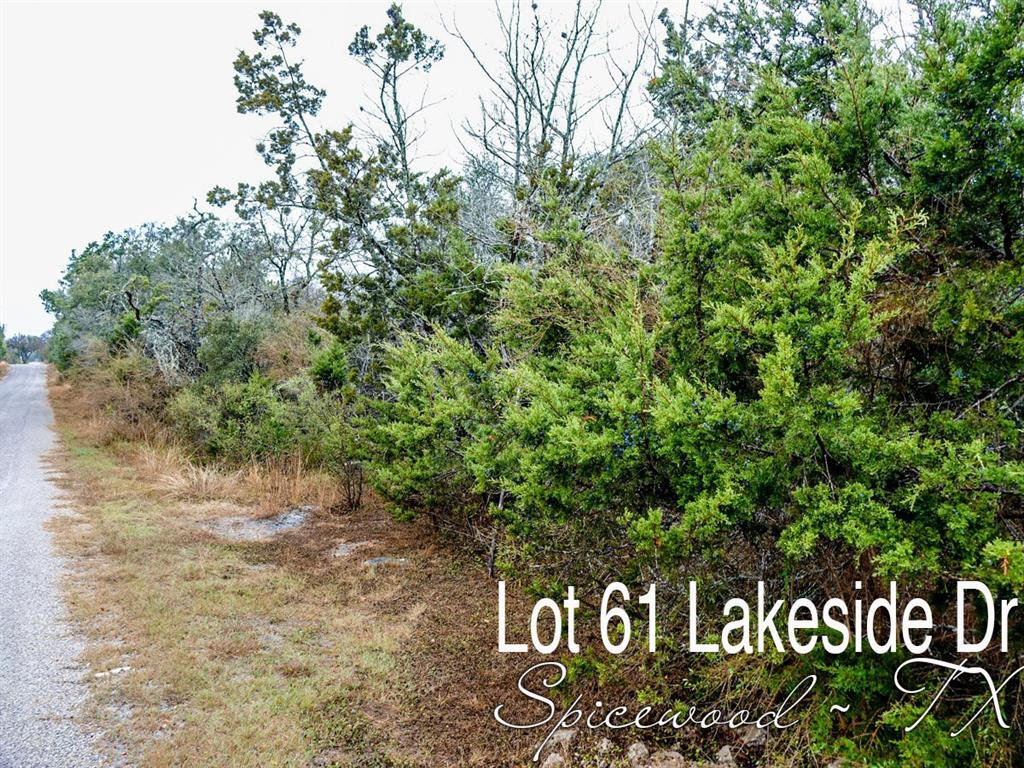 Lot 61 Lakeside Drive, Spicewood, TX 78669