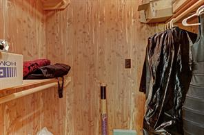 Cedar closet is one the two extra closets located in the upstairs hallway.  Don't miss the Texas basement.