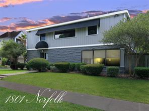 Houston Home at 1801 Norfolk Street Houston                           , TX                           , 77098-4305 For Sale