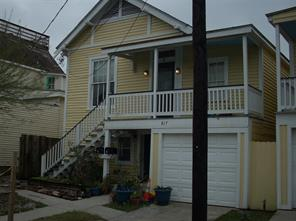 Houston Home at 817 10th Street Upstairs Galveston , TX , 77550-5117 For Sale