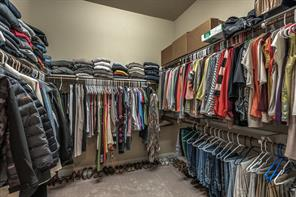 One of two large master closets.