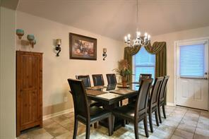 Dining room that easily fits a table of 8!