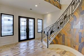 Check out this extravagant entranceway which is elevator ready.