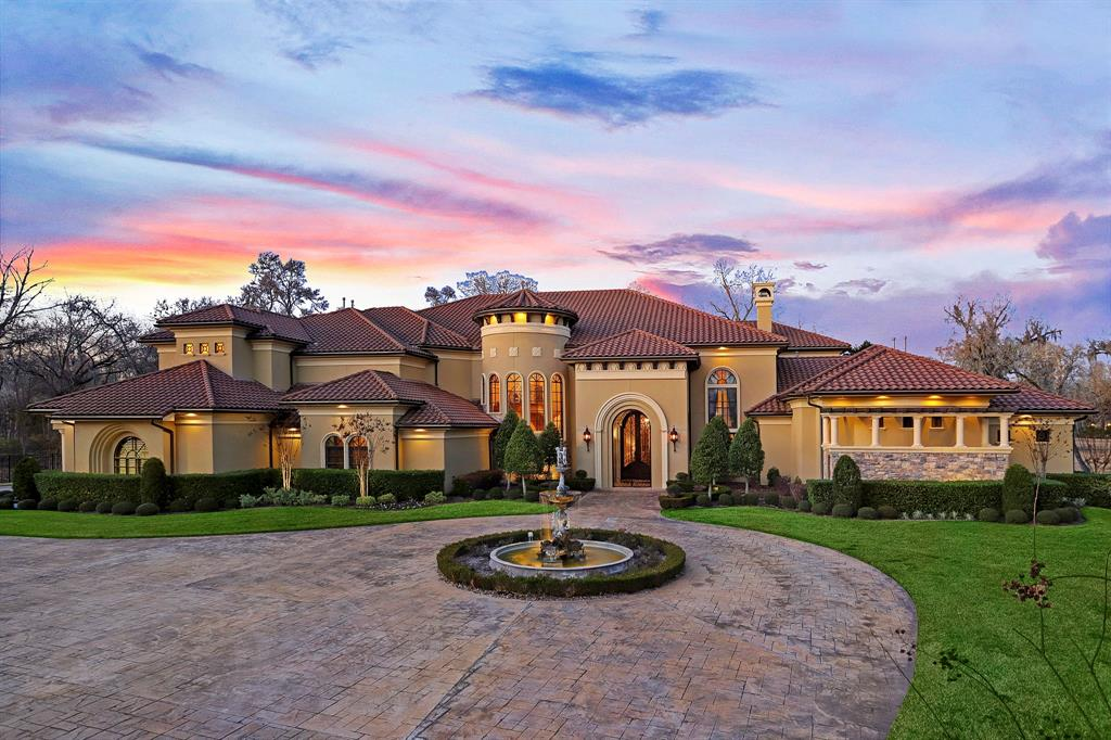 Tucked between the suburbs of Katy and Sugar Land lies this beautiful Tuscan Villa located in Richmond. The full estate includes 6 bedrooms, 6 full and 2 half baths for a total of 10,544 square feet of interior space on 3.58 acres spanning two lots. No expenses were spared in the construction of this home as the builder built this as his personal residence.