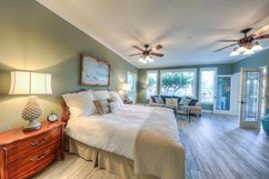 This is the Master suite that is located off of the living area downstairs with private bath.