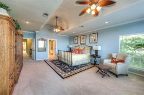Huge upstairs master suite offers an amazing master bath.