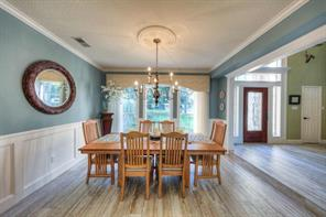 Formal dining is positioned in the front of the home just off of the foyer.