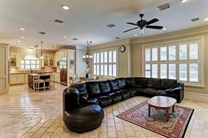 The family room , breakfast room and kitchen