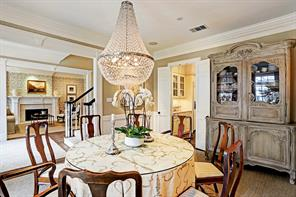 Another view of the dining room off the entry and viewing the living room and butlers pantry.