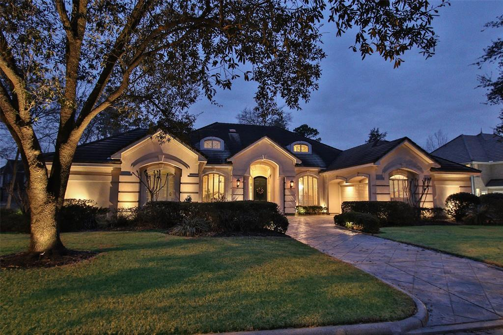 Private elegance with high quality construction in one of the finest golf course communities in northwest Houston, Northgate Forest.  Open floor plan, tray ceilings, cove lighting, rounded corners, wall of windows overlooking the backyard with exquisite architecture.  Master down with built-ins, large walk in closets, access to private sky-lighted Loggia, 2nd bedroom down with full bath.   Grand kitchen features huge granite island, tons of storage, custom cabinets with pull out shelves, hi-end marble flooring, top of the line appliances, 4 car garage with stamped concrete driveway.  Meticulously maintained and recent interior paint.  Concrete tile roof, automated sprinkler system and landscape lighting.  Northgate Forest Country Club is just down the street and easily accessible by golf cart!  NO FLOODING in House or Land. One-Year Membership to Northgate Country Club Included! (PDP Membership)!!