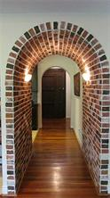 Beautiful brick archway as you walk into your home