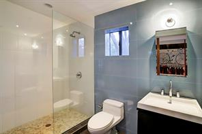 Your guests will love this bath private to the guest suite/gym/home dance studio.