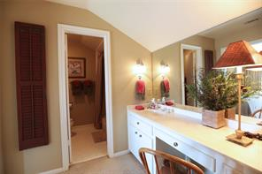 Private full bath for second upstairs bedroom with a ample sized walk-in closet.