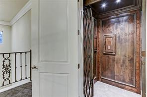 The heavy duty 750 custom elevator which is found at the entrance of the home.
