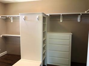 Great sized master closet!