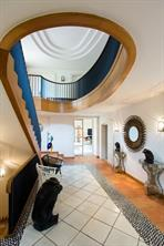 Elegant stairwell from first floor to second floor of the luxurious villa