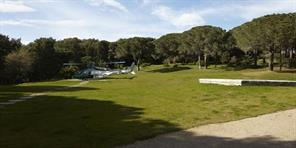 Heliport area on the grounds of the villa