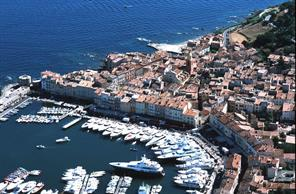 Aerial view of the marina in St-Tropez!