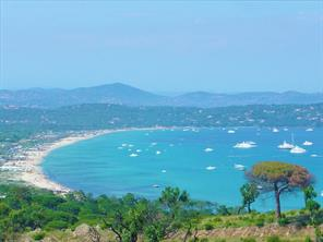 View of Pampelonne Bay - the luxury villa residence views are of this Bay