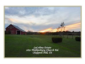 Houston Home at 2651 Phillipsburg Church Road Chappell Hill , TX , 77426-3773 For Sale